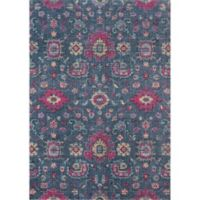Momeni Jewel 2' x 3' Floral Loomed Accent Rug in Denim