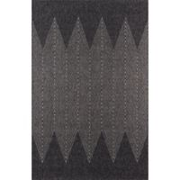 Momeni Como Abstract 2' x 3' Indoor/Outdoor Accent Rug in Charcoal