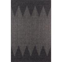 Momeni Como Abstract 3'11 x 5'7 Indoor/Outdoor Area Rug in Charcoal