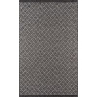 Momeni Como Segmented Diamond 3'11 x 5'7 Indoor/Outdoor Area Rug in Charcoal