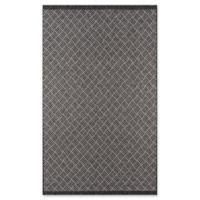 Momeni Como Segmented Diamond 5' x 7'6 Indoor/Outdoor Area Rug in Charcoal