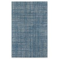 Momeni Como Cross Hatch 9'10 x 13'2 Indoor/Outdoor Area Rug in Blue