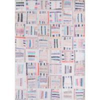 Momeni Afshar Patchwork 5' x 7'6 Multicolor Area Rug
