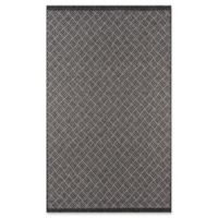 Momeni Como Segmented Diamond 9'10 x 13'2 Indoor/Outdoor Area Rug in Charcoal