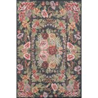 Momeni Afshar 7'6 x 9'6 Area Rug in Black