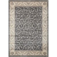 Nourison Somerset 3'6 x 5'6 Area Rug in Charcoal