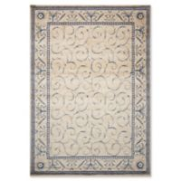 Nourison Somerset 5'3 x 7'5 Area Rug in Ivory/Blue