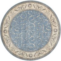 Nourison Somerset 5'6 Round Area Rug in Light Blue