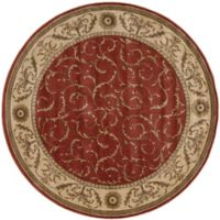 Nourison Somerset 5'6 Round Area Rug in Red