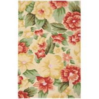 "Nourison Fantasy Floral 30"" x 48"" Accent Rug in Cream"