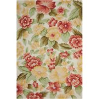 Nourison Fantasy Floral 5' x 7'6 Area Rug in Cream