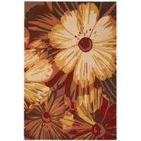 """Nourison Fantasy Vibrant Floral 21"""" x 33"""" Accent Rug in Cayenne"""