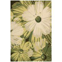 Nourison Fantasy Vibrant Floral 3'6 x 5'6 Area Rug in Herb