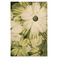Nourison Fantasy Vibrant Floral 5' x 7'6 Area Rug in Herb