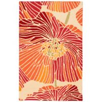 "Nourison Fantasy Bold Floral 21"" x 33"" Accent Rug in Sunset"