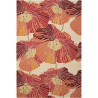 """Nourison Fantasy Bold Floral 30"""" x 48"""" Accent Rug in Sunset"""