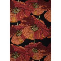 Nourison Fantasy Bold Floral 8' x 10'6 Area Rug in Black