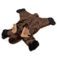Carstens Moose Small Hand-Woven Kids Plush Rug in Brown
