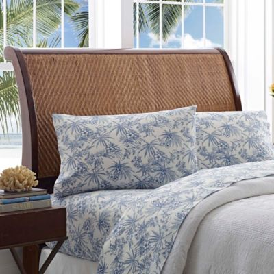 Tommy Bahama® Pen And Ink Palm King Sheet Set In Blue
