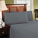 Brielle Easy Care Jersey Knit King Sheet Set in Grey