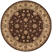 Nourison Somerset Floral 5'6 Round Area Rug in Brown