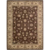 Nourison Somerset Floral 7'9 x 10'10 Area Rug in Brown