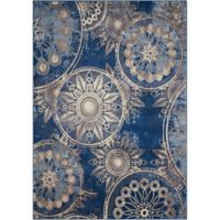 Nourison Somerset Medallion 7'9 x 10'10 Area Rug in Denim