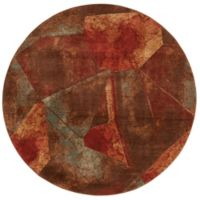 Nourison Somerset Abstract 5'6 Round Multicolor Area Rug