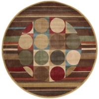 Nourison Somerset Shapes 5'6 Round Multicolor Area Rug