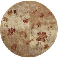 Nourison Somerset Vines 5'6 Round Multicolor Area Rug
