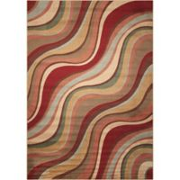 Nourison Somerset Waves 3'6 x 5'6 Multicolor Accent Rug