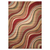 Nourison Somerset Waves 5'3 x 7'5 Multicolor Area Rug
