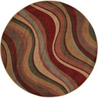 Nourison Somerset Waves 5'6 Round Multicolor Area Rug