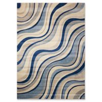 Nourison Somerset Waves 9'6 x 13' Area Rug in Ivory/Blue