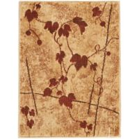 "Nourison Somerset Leaves 24"" x 33"" Accent Rug in Brown"