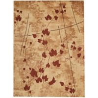 Nourison Somerset Leaves 5'3 x 7'5 Area Rug in Brown