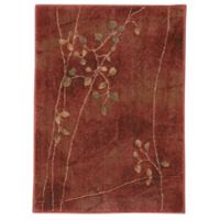 Nourison Somerset Branches 2'4 x 3'3 Accent Rug in Red