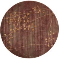 Nourison Somerset Branches 5'6 Round Multicolor Area Rug
