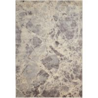 Nourison Marble 3'6 x 5'6 Loomed Area Rug in Grey
