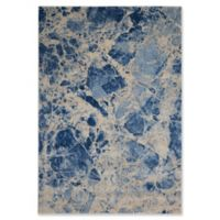 Nourison Marble 5'3 x 7'5 Loomed Area Rug in Blue