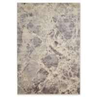 Nourison Marble 5'3 x 7'5 Loomed Area Rug in Grey