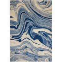 Nourison Home & Garden Somerset Marble 24' x 33' Area Rug in Light Blue