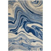Nourison Home & Garden Somerset Marble 5'3 x 7'5 Area Rug in Light Blue