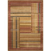 Nourison Somerset Striped 3'6 x 5'6 Loomed Multicolor Area Rug