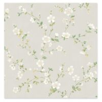 A-street Prints Delphine Floral Trail Wallpaper in White