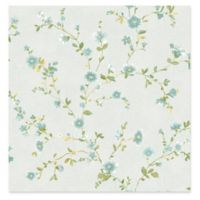 A-street Prints Delphine Floral Trail Wallpaper in Light Blue