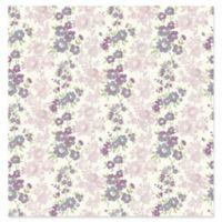 A-Street Prints Charlise Floral Stripe Wallpaper in Plum