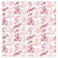 A-Street Prints Charlise Floral Stripe Wallpaper in Pink