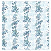 A-Street Prints Charlise Floral Stripe Wallpaper in Blue