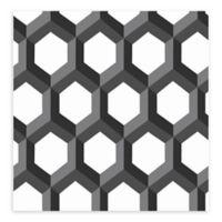 A-Street Prints Hex Geometric Wallpaper in Black